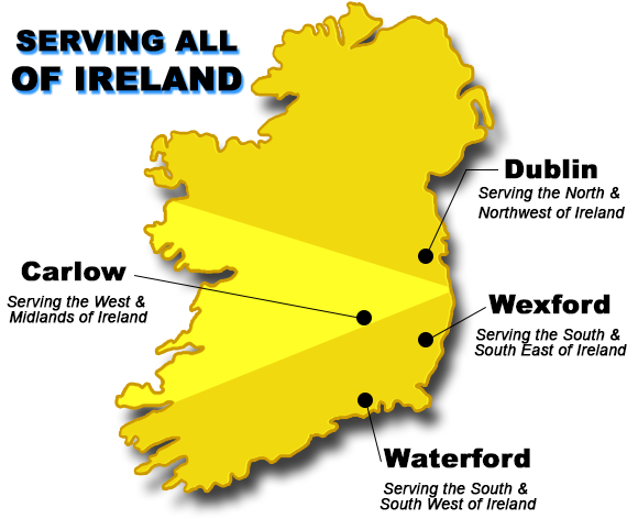 Areas Covered Ireland